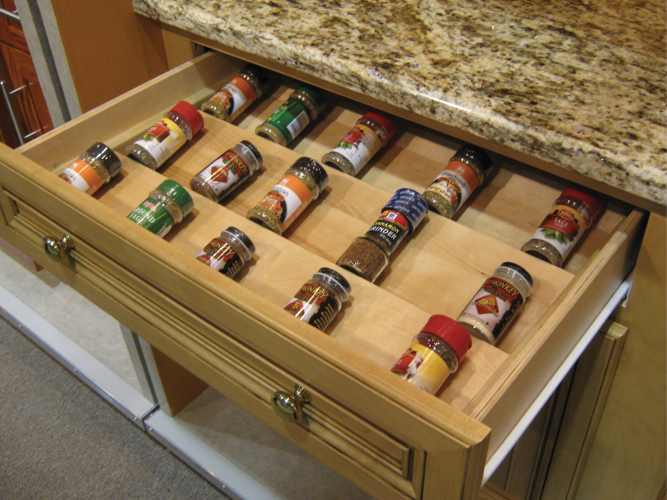 Wood-Spice-Drawer-Insert   National Refacing Systems