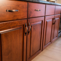 Cherry Wood Kitchen with Full Overlay Doors and Drawer Fronts